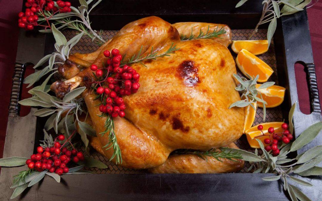 Recept voor gevulde Kerstkalkoen met cranberry compote